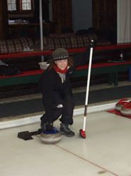 Ann curling in Canada